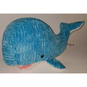 Mary Meyer Blue White Whale Plush Lovey Toy Ribbed
